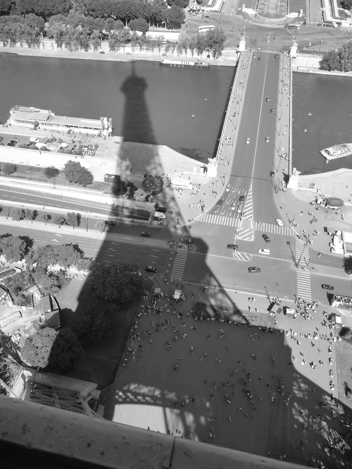Eiffel Tower shadow, Paris - Version 2