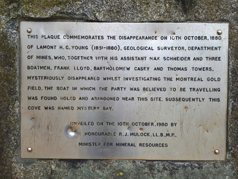 Memorial plaque to commemorate the disappearance