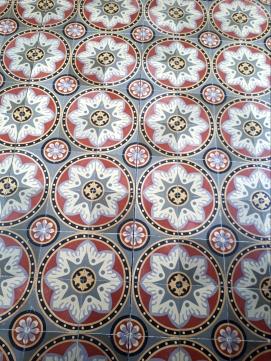 Floor tiles inside the Tower