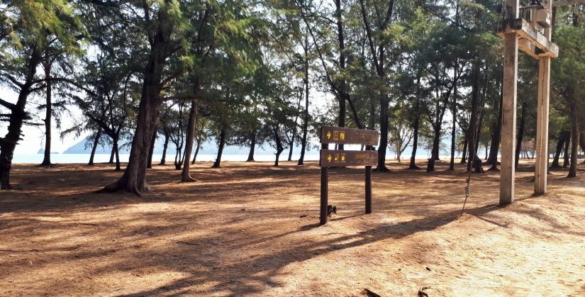 Beach before temple walk
