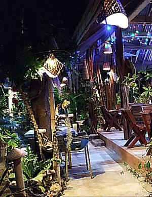 Blue Beach Restaurant at Night