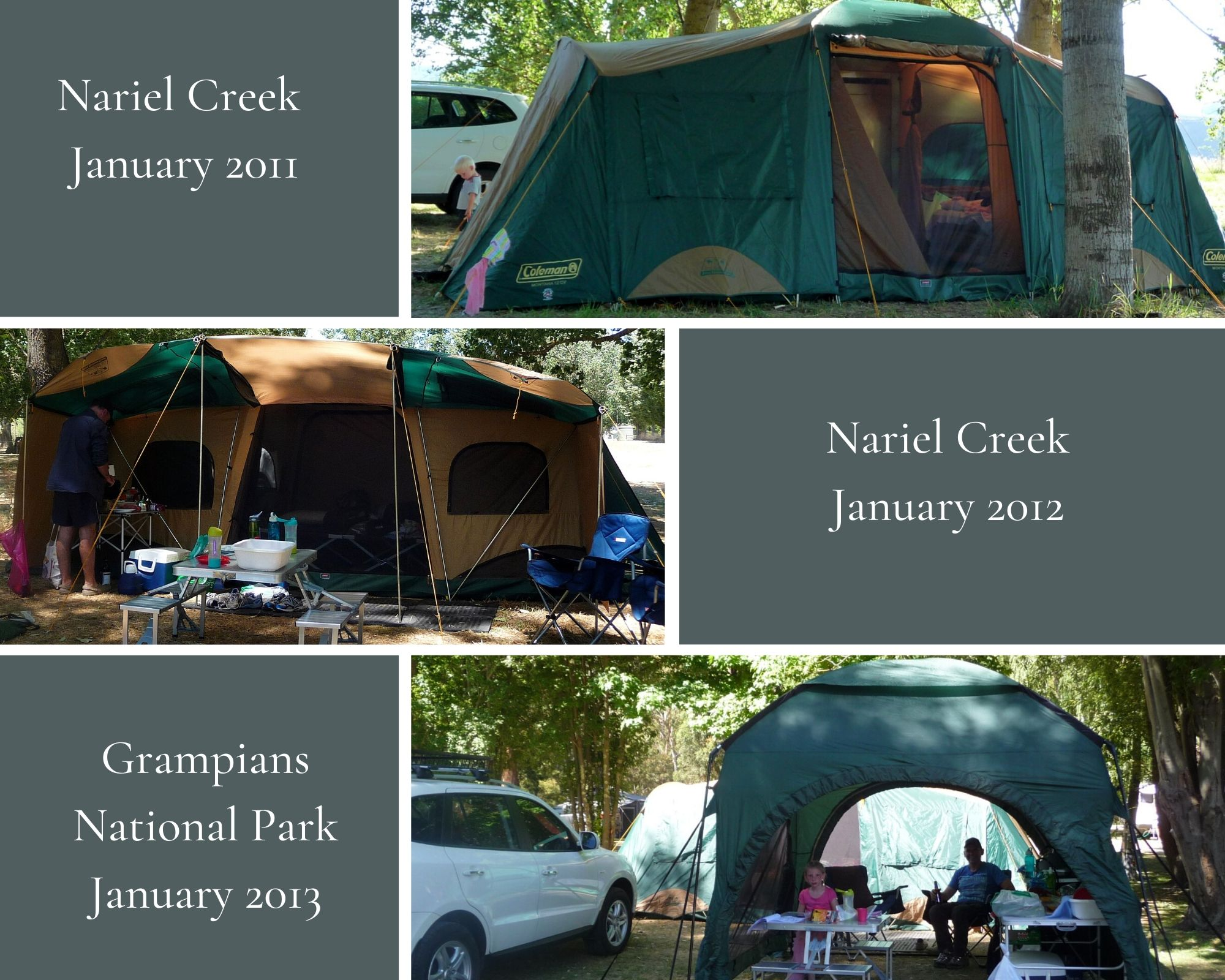 Coleman Tent collage